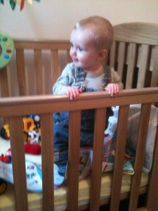 the Wee Man loved his cot