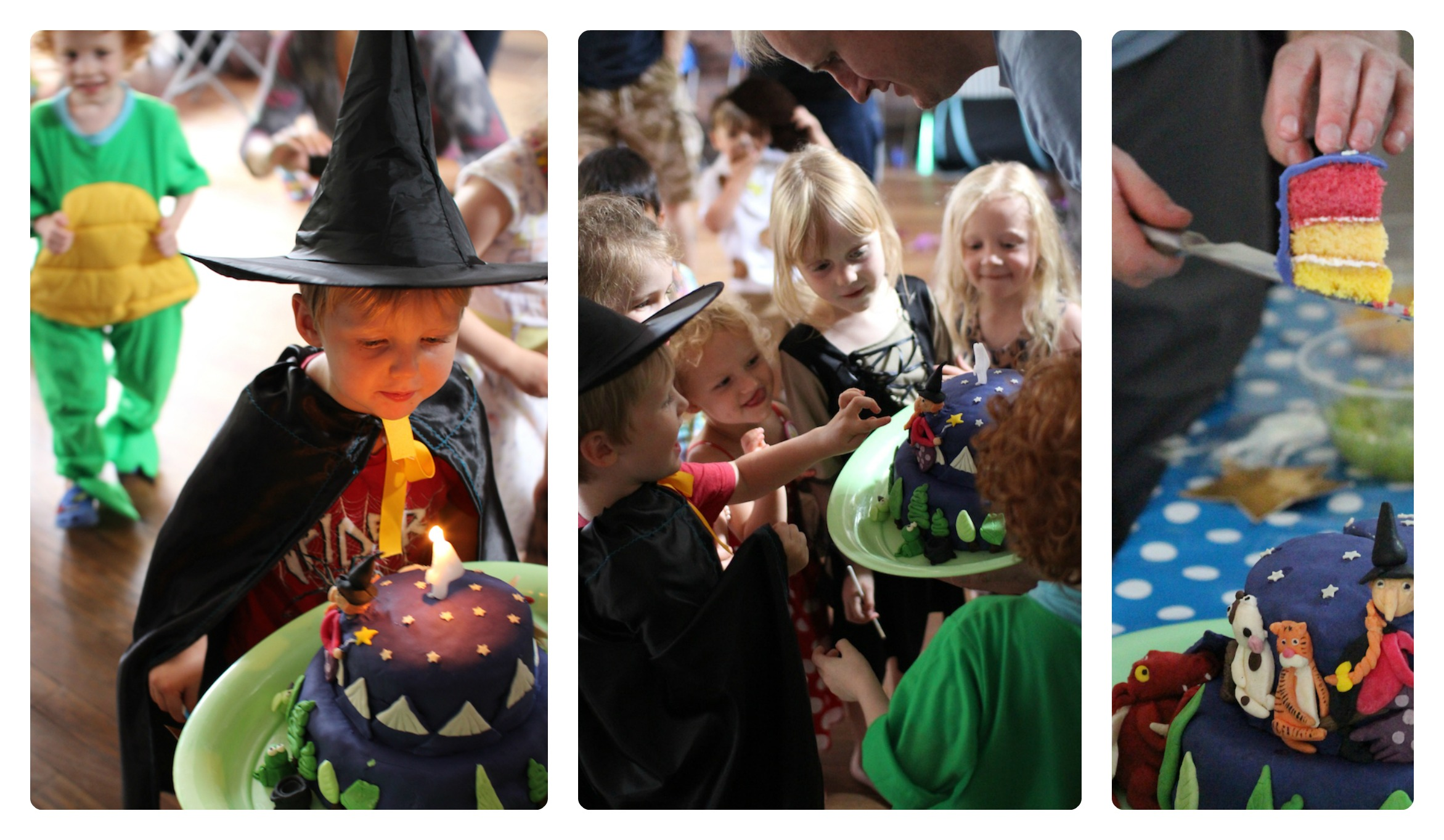 room on the broom party cake