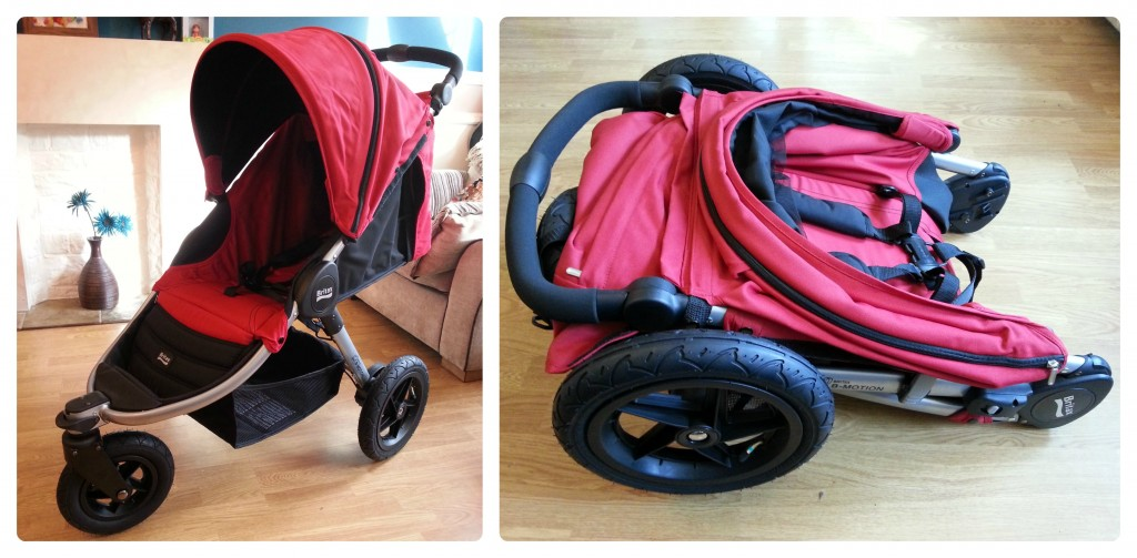 britax b motion 3 review assembled folded