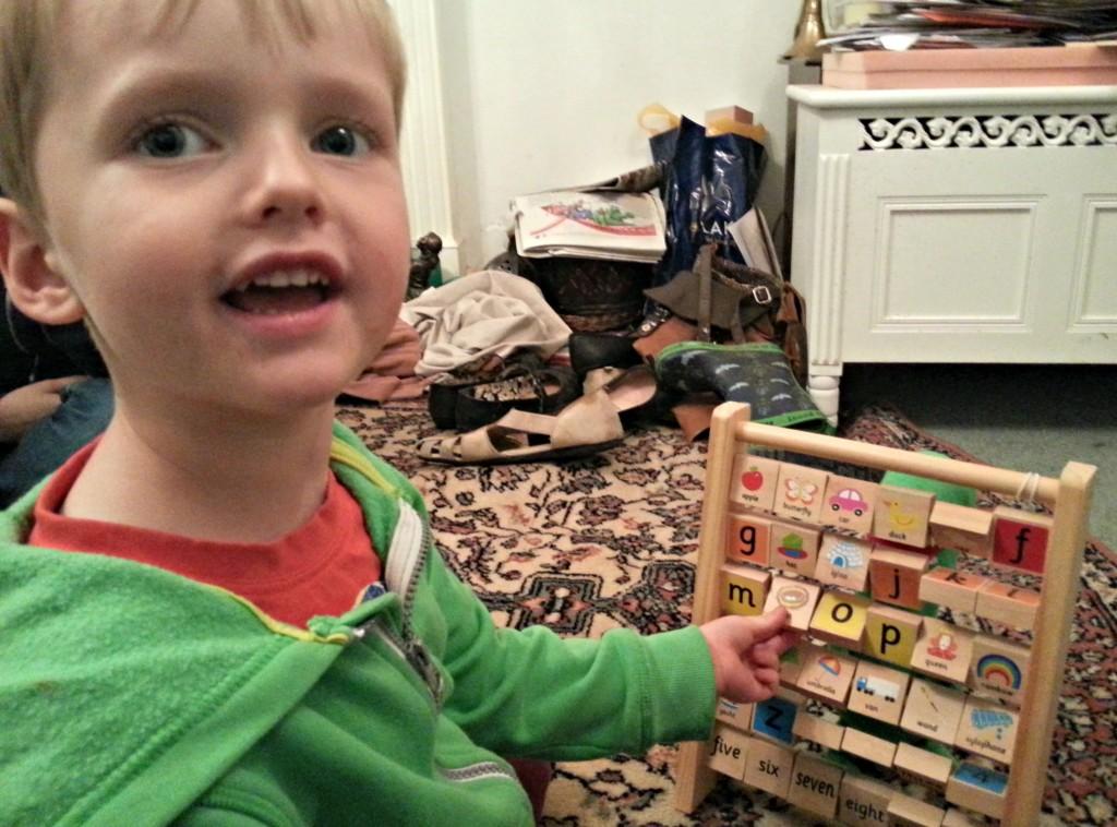 kiddicare buzzing brains alphabet frame