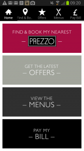 prezzo app main screen