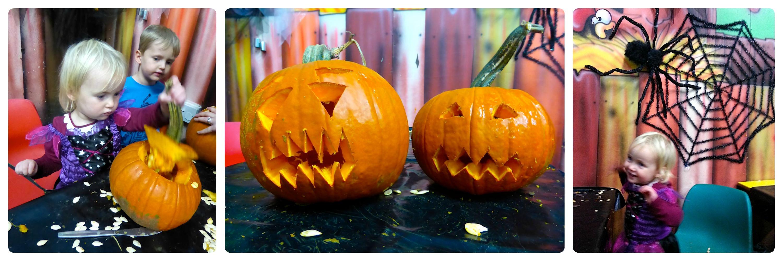 willows farm pumpkin carving area
