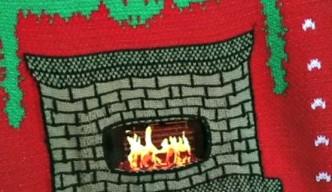 digital dudz christmas fireplace jumper