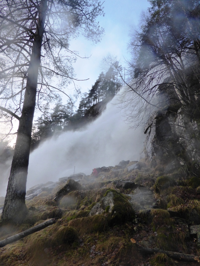 wet but spectacular - one of the many Norwegian waterfalls we saw