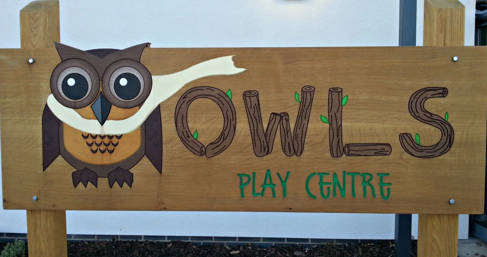 owls playcentre fairlop sign