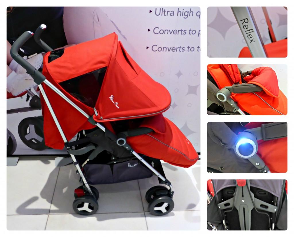 silver cross reflex pushchair bumper light ergonomic seat hood