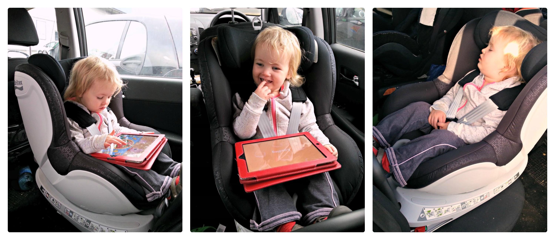 Bubby D enjoying her car seat
