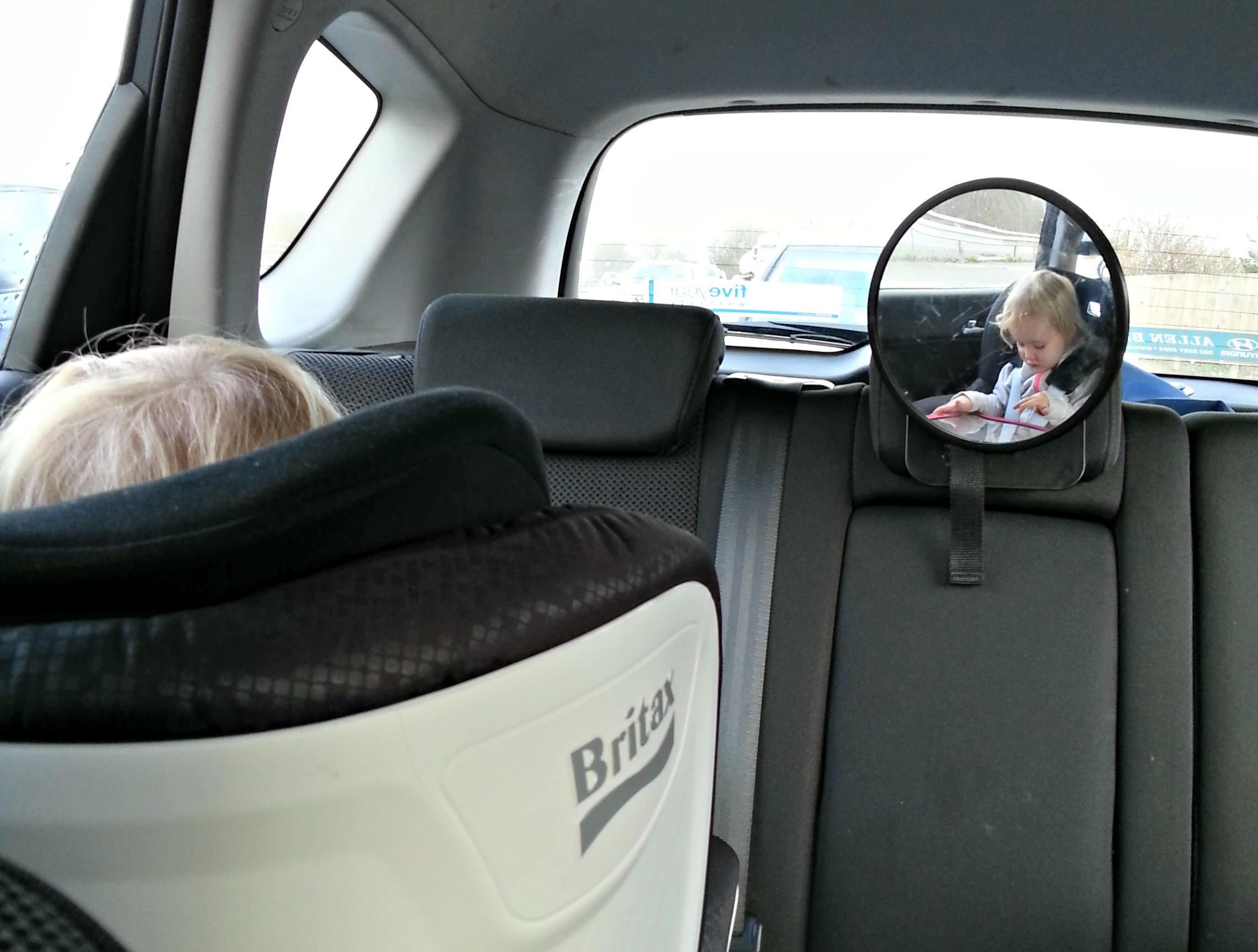 rearward facing for up to four