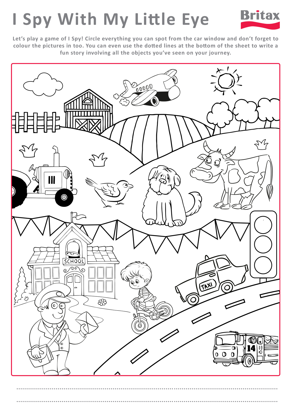 Staying sane in the car free BRITAX activity sheets for car – I Spy Worksheets
