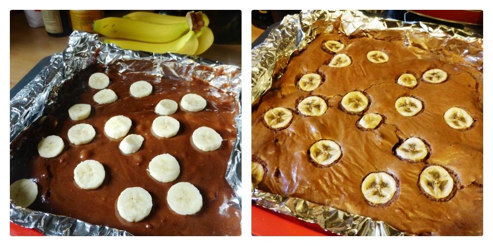 banana and ginger brownies fairtrade