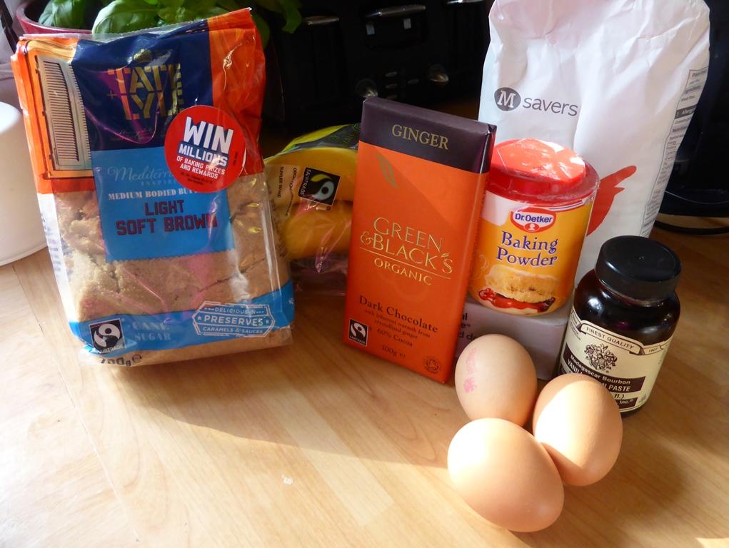 banana brownie ingredients