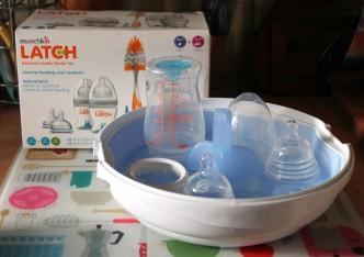 Latch and steriliser