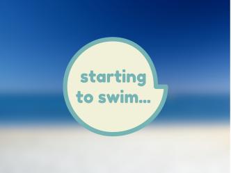 starting to swim