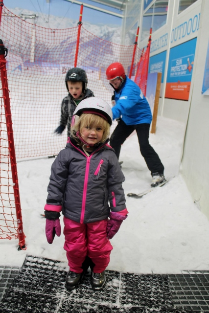 four year old ski lesson snow centre hemel