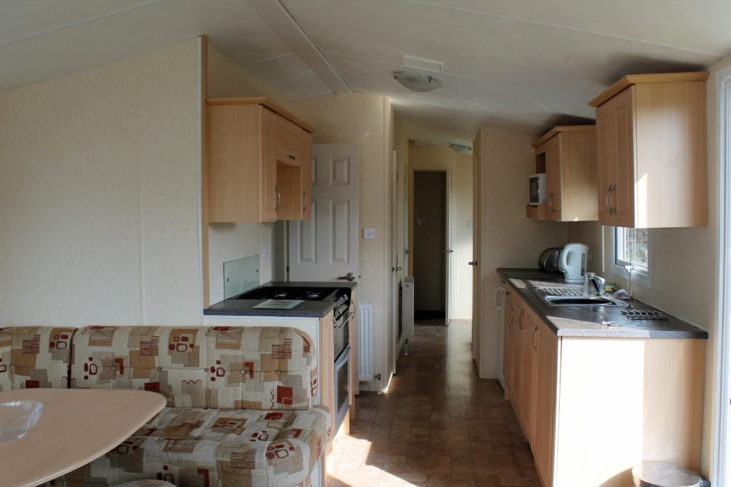 parkdean cherry tree caravan kitchen