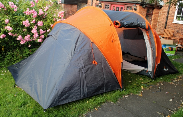 halfords aventura family 4 tent & Camping with kids - Aldenham Country Park - Mummy Is A Gadget Geek