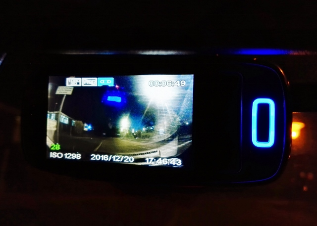 philips ADR810 driving video recorder dashcam at night
