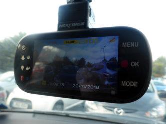 nextbase 412GW dash cam mounted on windscreen