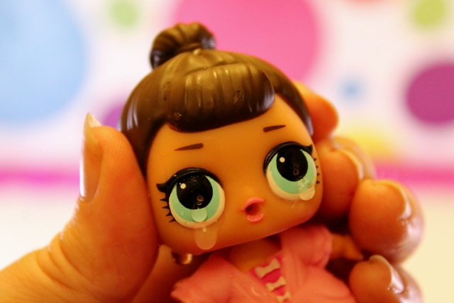 L.O.L. Surprise doll crying