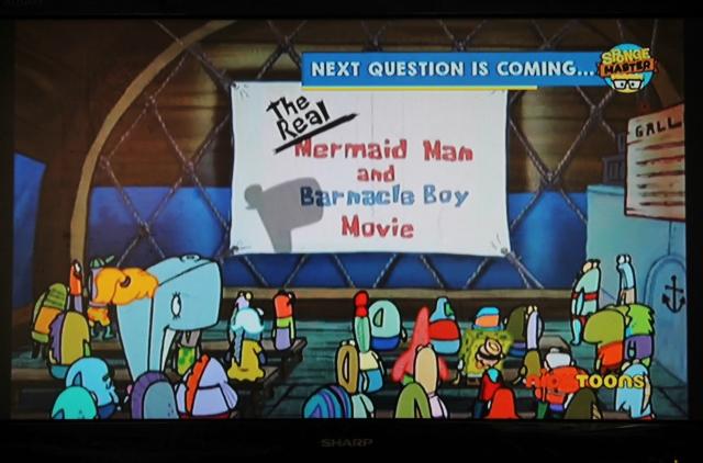 spongebob spongemaster nicktoons tv screen
