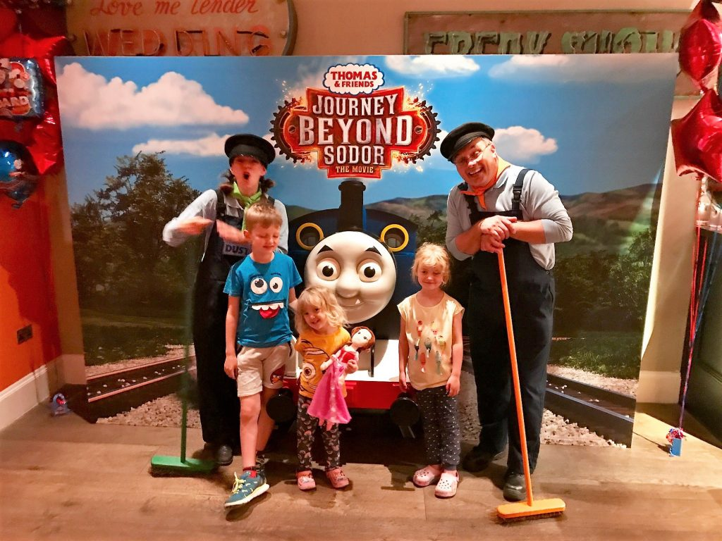 thomas the tank engine movie three kids meeting rusty and dusty