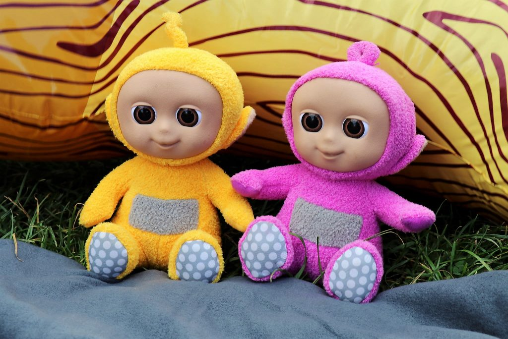 giggling tiddlytubbies tellytubby soft toys