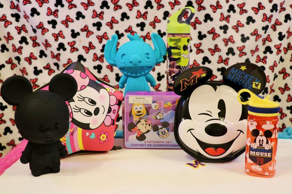 disneystore stationery sets minnie mickey mouse water bottles stitch