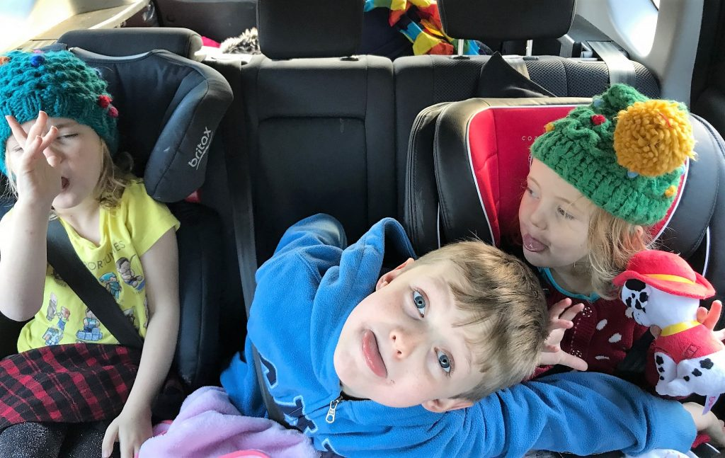 crazy kids in the car